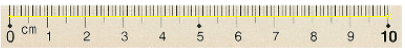 Calibrate using the ruler in the image